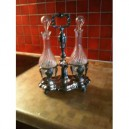 Solid Silver Antique Oil and Vinegar Set
